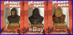 Planet Of The Apes Set Of 3 Sota Pota Mini Busts Cornelius Gorilla Soldier Zaius