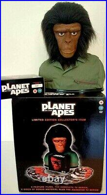 Planet Of The Apes Ultimate Collectors Ed Head Bust 12 DVD Box Set Rare OOP