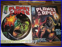 Planet Of The Apes comic magazine Marvel/Curtis Stan Lee POTA 70's HighGrade lot