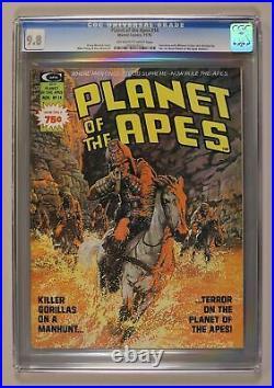 Planet of the Apes #14 CGC 9.8 1975 Marvel Magazine 0962603010