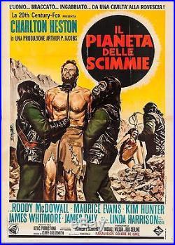 Planet of the Apes 1968 Italian 4 Fogli (55 X 77). Heston, MacDowell, Hunter