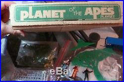 Planet of the Apes 1968 Playset Multiple Toymaker box tv show incomplete RARE