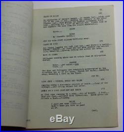 Planet of the Apes 1974 Original TV Script, Tomorrow's Tide Season 1, Episode 6