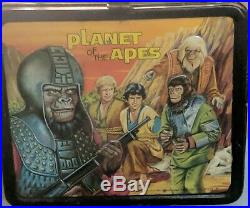 Planet of the Apes 1974 VTG Metal Lunch Box with Thermos (missing lid). Original