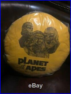Planet of the Apes 1974 Yellow Round Pillow With Fur On The Back