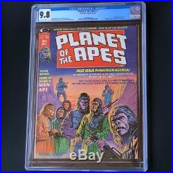 Planet of the Apes #1 (1974) CGC 9.8 Highest Graded! Marvel Magazine