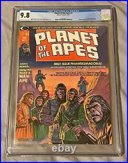 Planet of the Apes #1 CGC 9.8 Marvel Comics / Rod Serling Interview August 1974