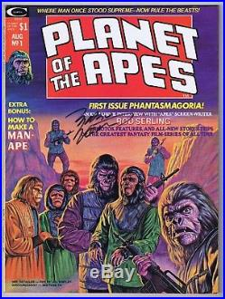 Planet of the Apes #1 Magazine V\VF+ Signed withCOA Marv Wolfman 1974 Curtis POTA