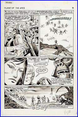 Planet of the Apes #26 Story Page 18 Original Art Herb Trimpe & Virgil Redondo