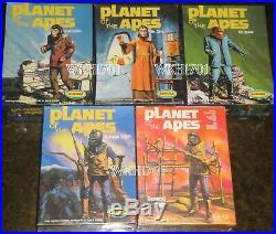 Planet of the Apes 5 Model Kits CORNELIUS, ZIRA, ZAIUS, URSUS + Rare ALDO! MISB
