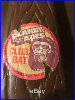 Planet of the Apes Club Bat Wiffle Ball Bat 1970s Rare