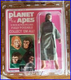 Planet of the Apes Diamond Select, Complete 4 Figure Set, 2008 MOC Mego Re-issue