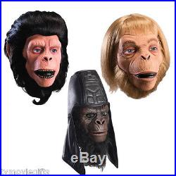 Planet of the Apes Dlx Mask Set of 3 Cornelius, Usurus, Zaias Licesnsed New
