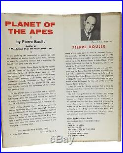 Planet of the Apes First Edition Pierre Boulle 1st Printing 1963 Rare Book