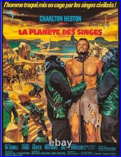 Planet of the Apes French Grande Movie Poster 1968 Heston Hollywood Posters