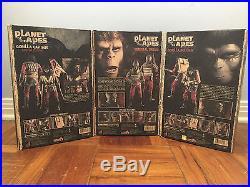 Planet of the Apes Hot Toys 16 Figure Set Ursus + Captain + Soldier Near Mint