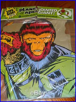 Planet of the Apes Jointed Galen 62 Life size Cardboard Vintage 1974