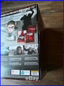 Planet of the Apes Limited Caesars Warrior Collection Bust uk RB BLU RAY Boxset