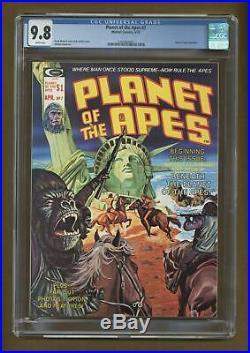 Planet of the Apes (Marvel Magazine) #7 1975 CGC 9.8 1497463008