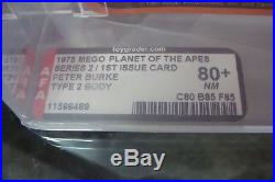 Planet of the Apes Mego AFA PETER BURKE 80+ Action Figure 1975 Graded tv show