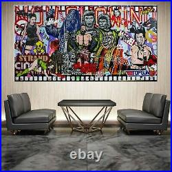 Planet of the Apes Movie Urban Pop Art Painting Textured 190cm x 100cm Franko