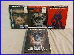 Planet of the Apes Steelbook Collection + 4K Set (Blu Ray) BRAND NEW, SEALED