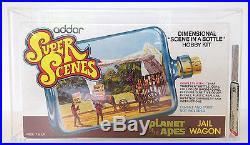 Planet of the Apes Super Scenes Jail Wagon Hobby Kit 1975 AFA Graded 85 Addar