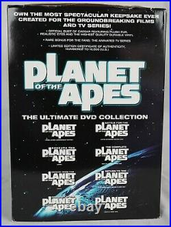 Planet of the Apes Ultimate 14 DVD Collection BOXED SET with Caesar Bust