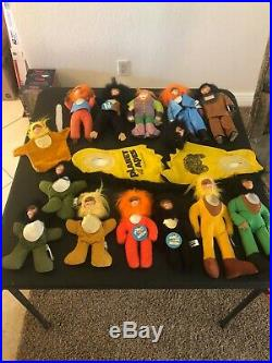 Planet of the Apes Vintage 1974 -14 Plush Ape Dolls and 1 pair of Ape Feet
