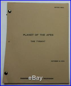 Planet of the Apes / Walter Black, 1974 TV Script The Tyrant Roddy McDowall