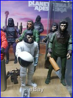 Planet of the apes action figures trilogy, complete set neca. 12 figures