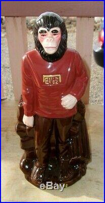 Playpal Plastics 1974 Planet of the Apes Galen CERAMIC Coin Bank NOT RUBBER