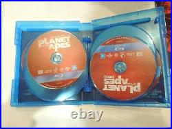 Pre Owned Caesar's Warrior Collection Planet of the Apes (Blu-ray 8 dics)