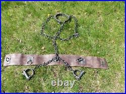 Prop Fesselgürtel Halsfessel Handschellen belt handcuffs Planet of the Apes 2001
