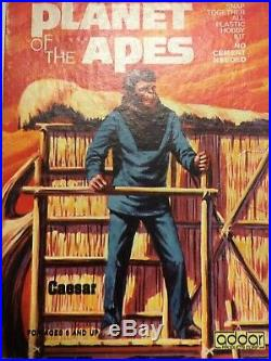 RARE 1973 CAESAR ADDAR AURORA PLANET OF THE APES MODEL KIT No. 106 VINTAGE