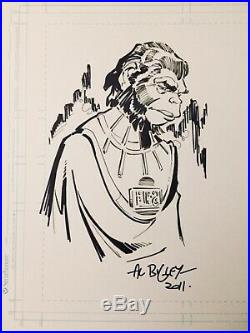 RARE Original Planet of the Apes Ink Illustration by DC Marvel artist Al Bigley