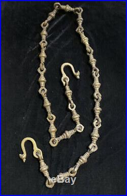 RARE Tim Burton Movie Prop Planet Of The Apes Solid Brass Chain from Ape City