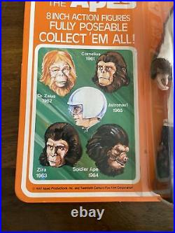 RARE Vintage Mego POTA Planet Of The Apes Dr. Zaius Sealed Card MOC