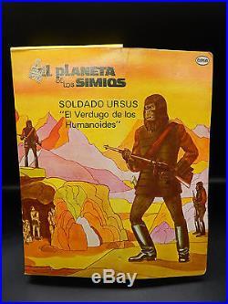 RARE vintage Cipsa Planet of the Apes GENERAL URSUS action figure Mego Mexico