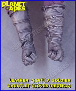 REPLICA 1968 Planet of the Apes Gorilla Soldier Gauntlet Gloves (cosplay)