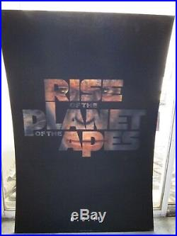 RISE OF THE PLANET OF THE APES 2011 RARE Original LENTICULAR 27X40 Movie Poster