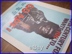 Rare 1974 GO APE 30 x 40 Rolled Planet Of The Apes Movie Poster 1 sheet bape