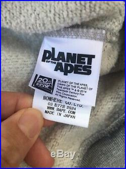 Rare 2004 BAPE A BATHING APE x PLANET OF THE APES APE Hoodie Hoody AUTHENTIC