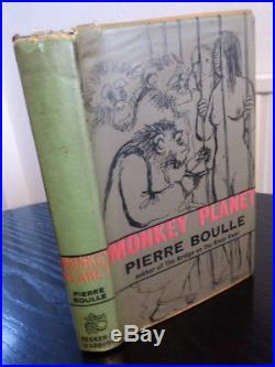 Rare Pierre Boulle MONKEY PLANET (of the apes) secker 1964 1st first edition hbk