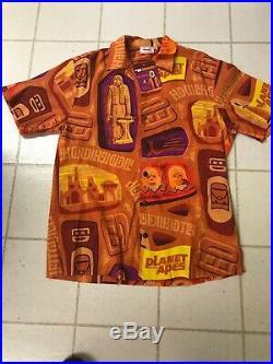 Rare SHAG Orangutan Planet of the Apes Shirt L with Pin