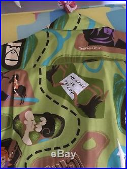 Rare Shag Vintage Planet Of The Apes Shirt With Pin Mint Monster Scifi