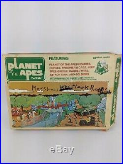 Rare VINTAGE 1967 PLANET OF THE APES TOY PLAYSET IN BOX TANK JEEP SOLDIERS