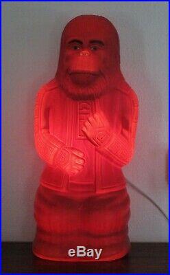 Rare Vtg Blow Mold Light Planet Of The Apes Dr Zaius 18 Aj Renzi Corp 1967 Exc