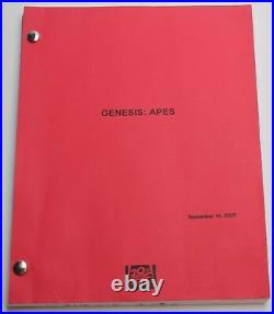 Rise of the Planet of the Apes 2007 Movie Script Screenplay, Early Draft