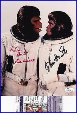 Roddy McDowell & Kim Hunter Planet of the Apes Signed 8x10 Photo JSA Certified